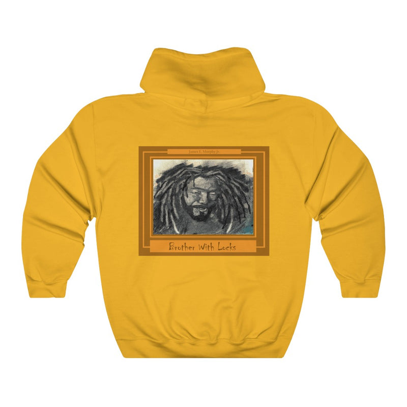 BROTHER WITH LOCS Unisex Heavy Blend™ Hooded Sweatshirt