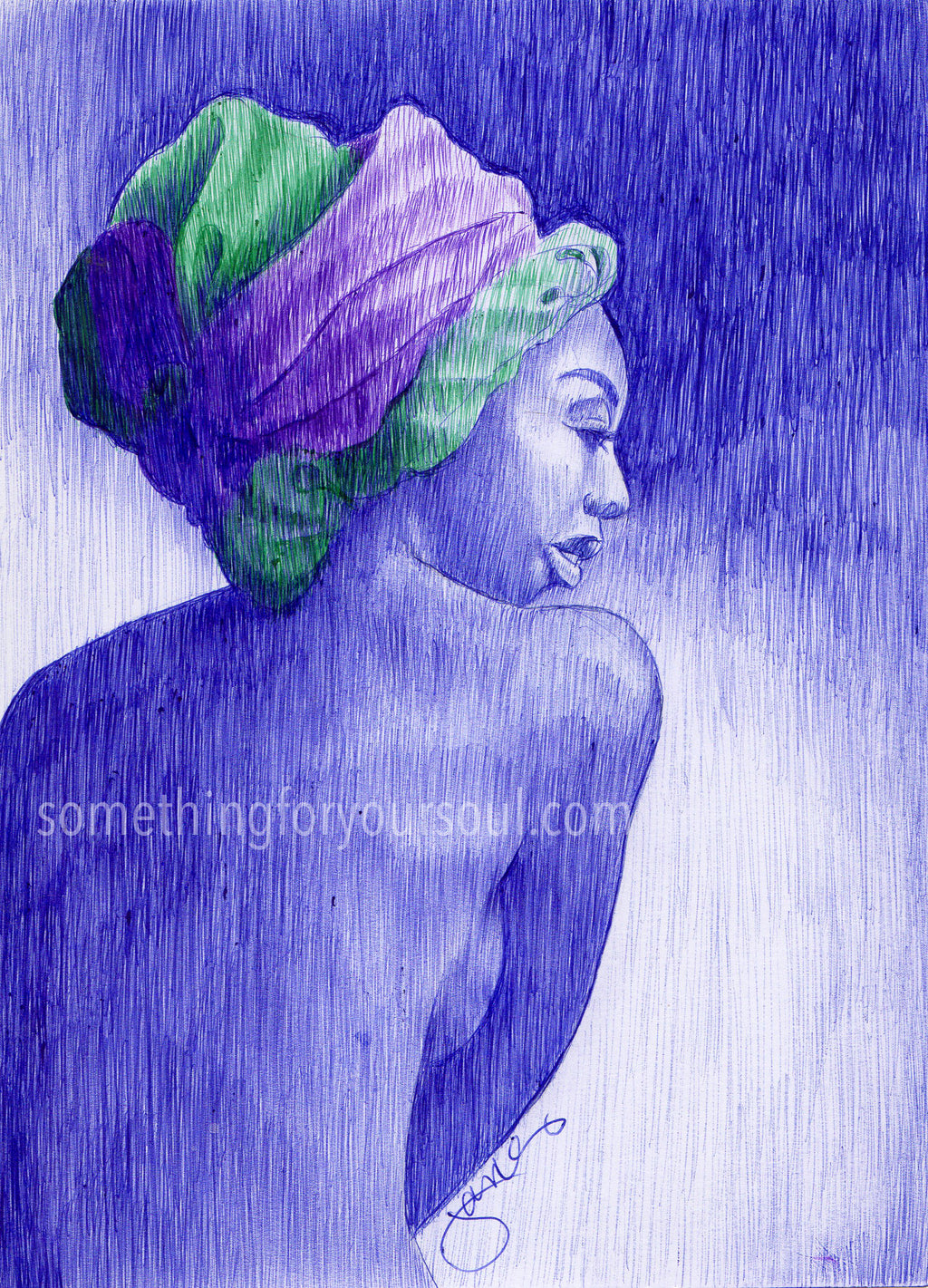 Turban Clad Beauty