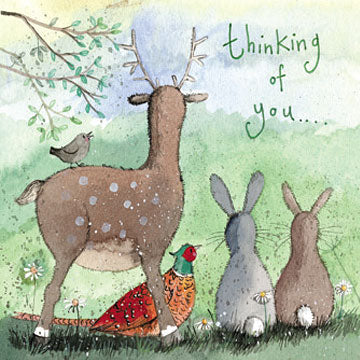 Thinking Of You Card - Woodland Animals