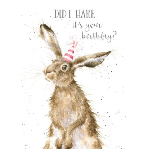 Birthday Card - Birthday Hare