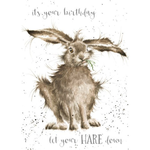 Birthday Card - Hare Down