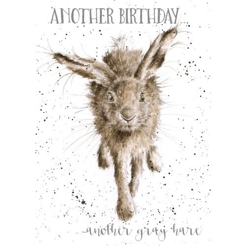 Birthday Card - Little Gray Hare