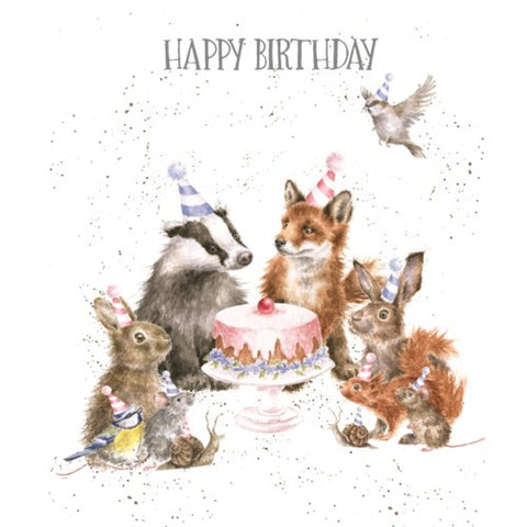 Birthday Card - Woodland Party