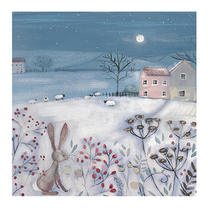 Christmas Card - Across The Fields