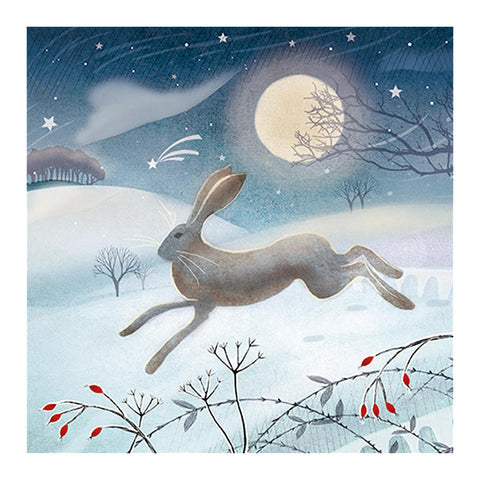 Christmas Card - Leaping Hare Charity Christmas Card