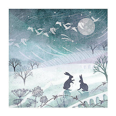 Christmas Card - Winter Rabbits Charity Christmas Card