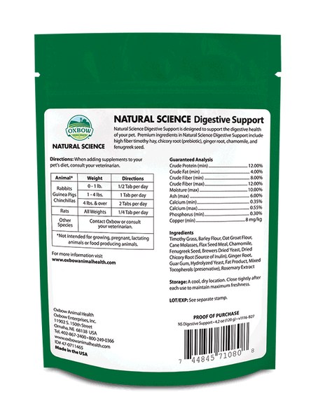 Oxbow NS Digestive Supplement