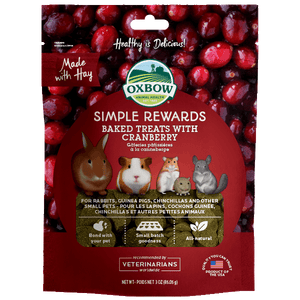 Oxbow SR Baked Treats - Cranberry