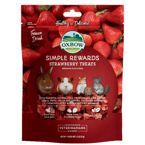 Oxbow SR Strawberry Treats 0.5oz