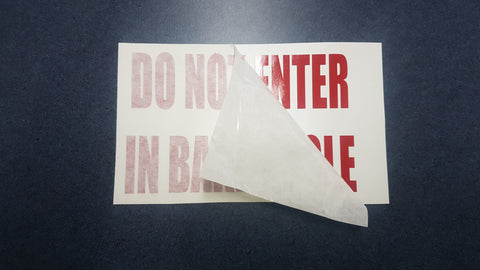 Do Not Enter in Bake Sticker