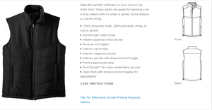 Limited Edition Teach For America Puffy Vest (Pre-Sale)