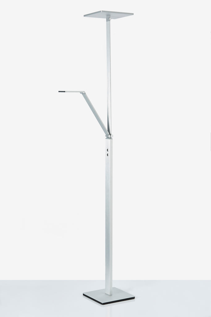 Redfern square LED uplighter in Aluminium