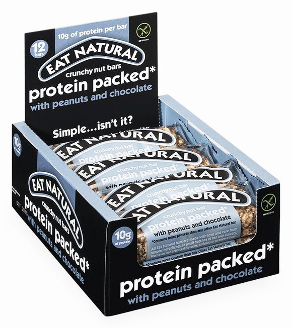 Eat Natural Peanuts & Chocolate Protein Bars 12x45g