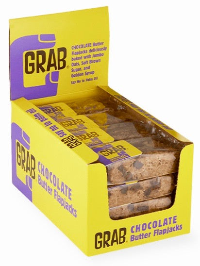 Grab Chocolate Buttery Flapjacks 16x65g