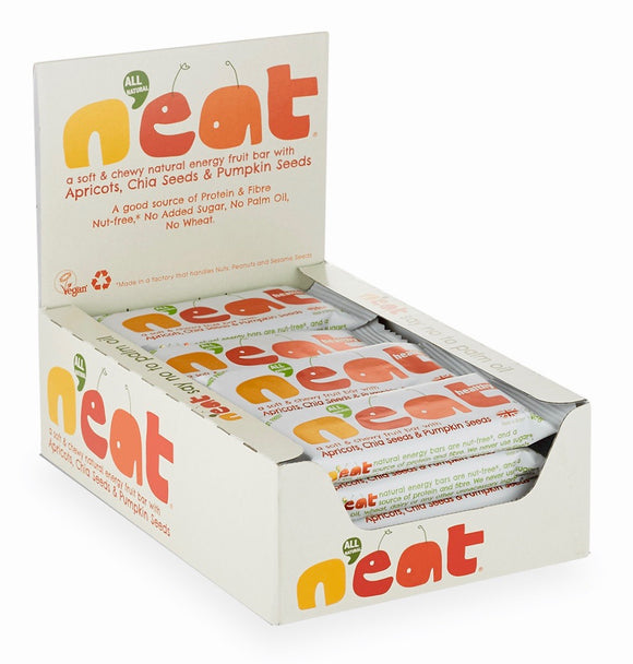 N'eat Apricots, Chia Seeds & Pumpkin Seeds Natural Energy Fruit Bars 16x45g