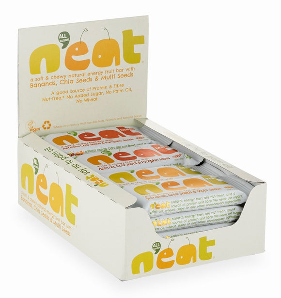 N'eat Bananas, Chia Seeds & Multi Seeds Natural Energy Fruit Bars 16x45g