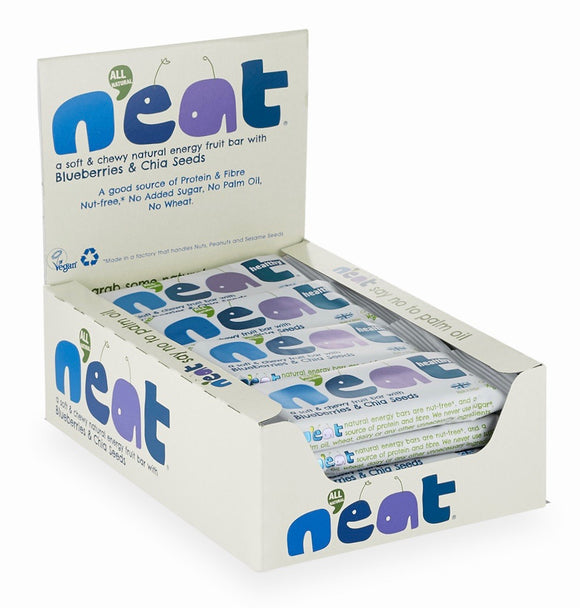 N'eat Blueberries & Chia Seeds Natural Energy Fruit Bars 16x45g