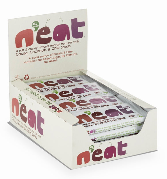 N'eat Cacao, Coconuts & Chia Seeds Natural Energy Fruit Bars 16x45g