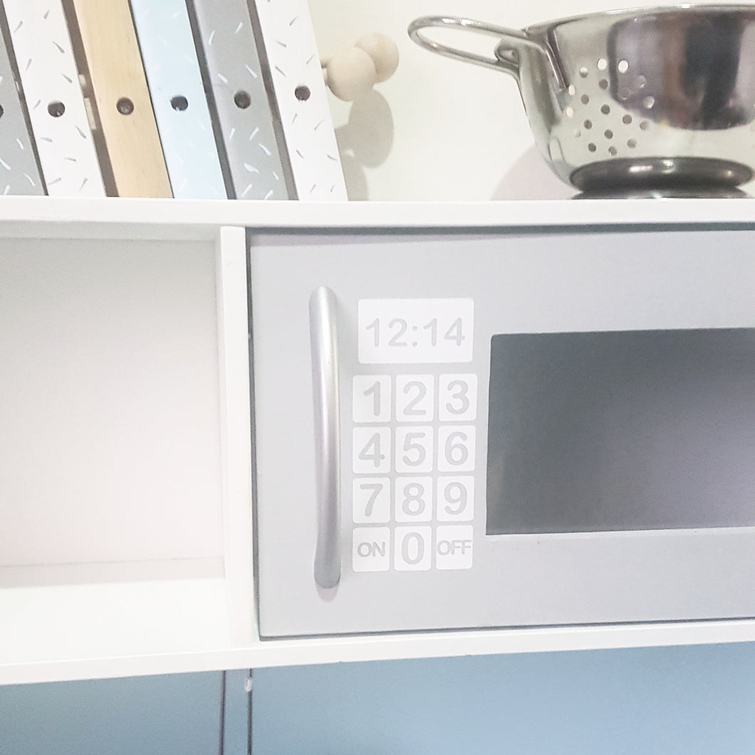 Microwave Button Decal