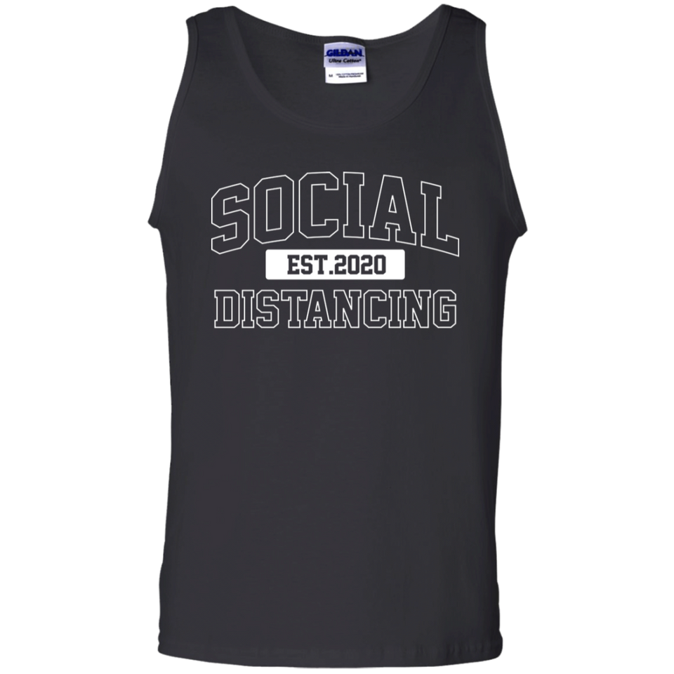 CustomCat Apparel Cotton Tank Top / Black / S A men shirt