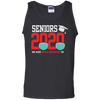 CustomCat Apparel Cotton Tank Top / Black / S Seniors 2020 the one where they were quarantined social distancing t-shirt