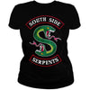 CustomCat Apparel Gildan Ladies' 5.3 oz. T-Shirt / Black / S 2019 Riverdale T-Shirt Men Tops SouthSide Serpents Jughead T Shirt Clothing Riverdale South Side Tee Sweatshirt Hoodie T shirt For Women