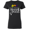CustomCat Apparel It's Just A Bunch of Hocus Pocus Shirt Women Sanderson Sisters Halloween Funny Graphic Tees