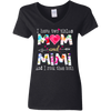 CustomCat Apparel Ladies' V-Neck T-Shirt / Black / S I have two tittles mom and mimi t-shirt