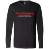 CustomCat Apparel Long Sleeve T-Shirt / Black / S A men shirt