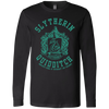 CustomCat Apparel Long Sleeve T-Shirt / Black / S Harry Potter Slytherin quidditch T-Shirt