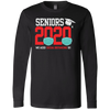 CustomCat Apparel Long Sleeve T-Shirt / Black / S Seniors 2020 the one where they were quarantined social distancing t-shirt