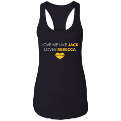 CustomCat Apparel Next Level Ladies Ideal Racerback Tank / Black / X-Small A Women Collection