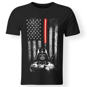 CustomCat Apparel Premium Men T-Shirt / Black / S darth vader american flag shirt
