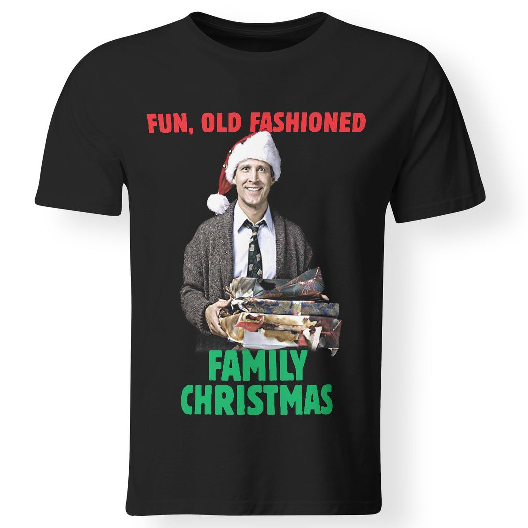 CustomCat Apparel Premium Men T-Shirt / Black / S national lampoons christmas vacation old fashioned adult t-shirt