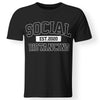 CustomCat Apparel Premium Men T-Shirt / Black / S Social distancing est 2020 funny quarantine flu anti-virus anti social pop culture men's t-shirt