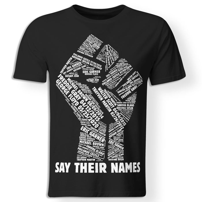 CustomCat Apparel Premium Men T-shirt / Black / X-Small Say their names George Floyd t-shirt