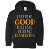 I Try to Be Good But I Take After My Crazy Grandma Funny Hoodie for Kids Sweatshirts - Stephen & Kiara