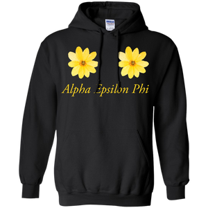 Alpha Epsilon Phi Yellow Flowers Hoodie Sweatshirts - Stephen & Kiara