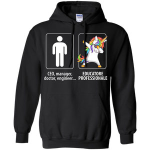 Dabbing educatore professionale unicorn vs CEO doctor engineer Hoodie Sweatshirts - Stephen & Kiara