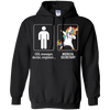 Dabbing Medical Secretary unicorn vs CEO doctor engineer Hoodie Sweatshirts - Stephen & Kiara
