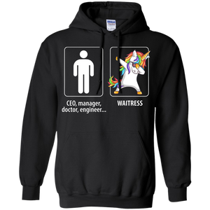 Dabbing Waitress unicorn vs CEO doctor engineer Hoodie Sweatshirts - Stephen & Kiara