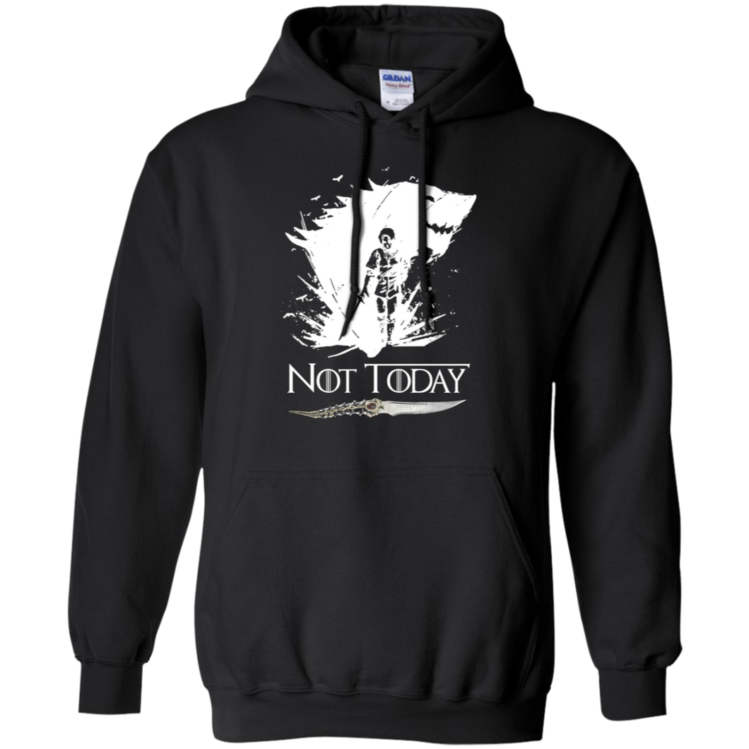 CustomCat Sweatshirts Black / S Not Today Hoodie
