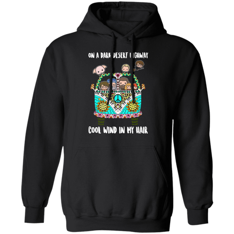CustomCat Sweatshirts Black / S On A Dark Desert Highway Cool Wind in My Hair Shirt Harry Lovers Pot-TER Fan Hoodie