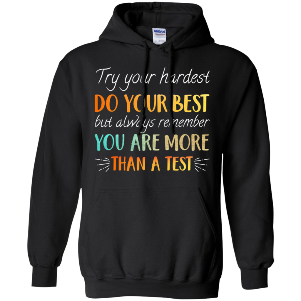 CustomCat Sweatshirts Black / S Try Your Hardest Do Your Best Hoodie