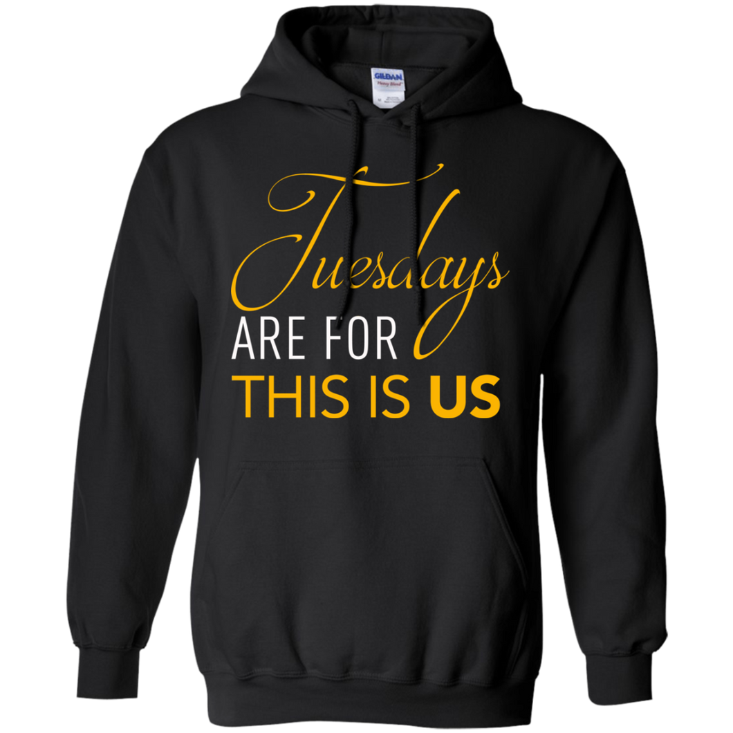 CustomCat Sweatshirts Black / S Tuesdays Are For This Is Us Hoodie