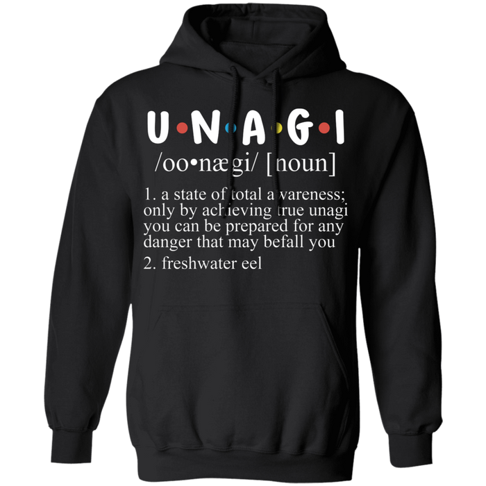 CustomCat Sweatshirts Black / S Unagi Explained As A Funny Dictionary Karate Sushi Hoodie