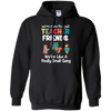 CustomCat Sweatshirts Black / S We're More Than Just Teacher Friends We're Like A Really Small Gang Hoodie