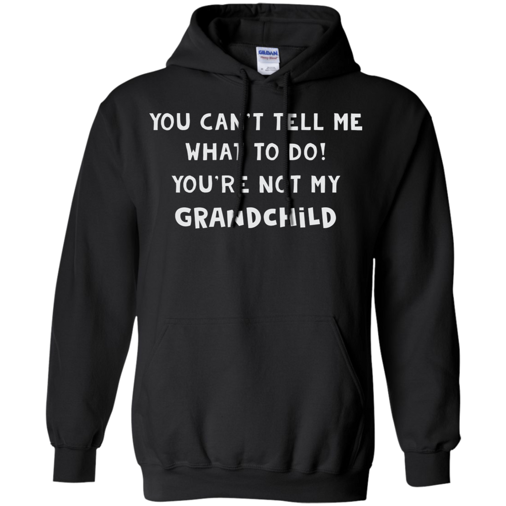 CustomCat Sweatshirts Black / S You Can't Tell Me What To Do Hoodie