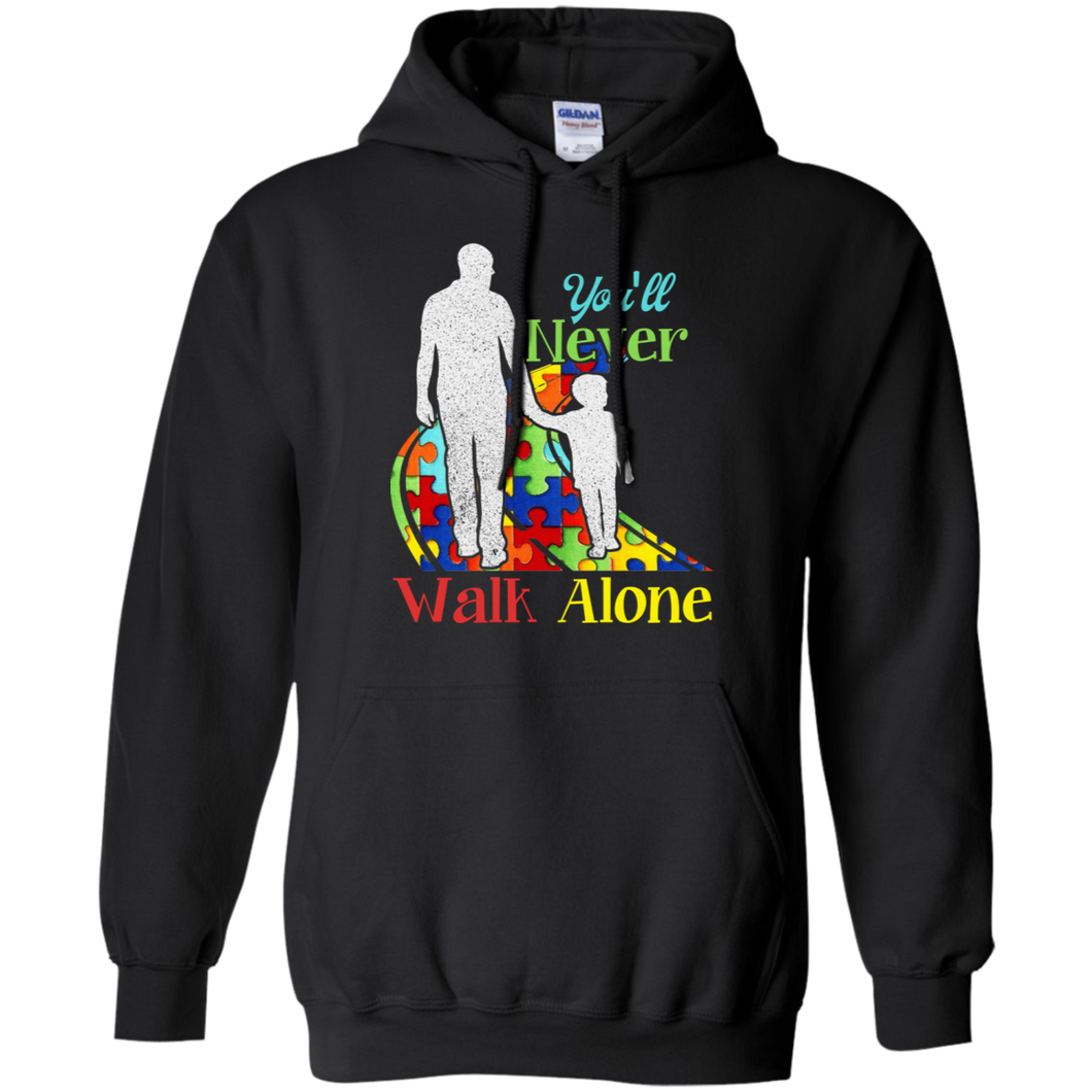 CustomCat Sweatshirts Black / S You'll Never Walk Alone Son Hoodie