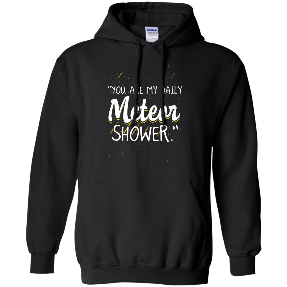 CustomCat Sweatshirts Black / S You're My Daily Meteor Shower Hoodie